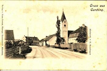 Postkarte gelaufen 1901
