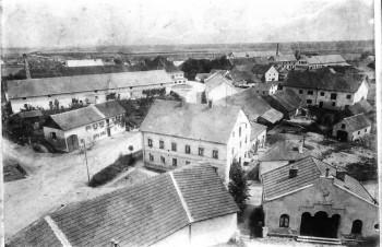 Garching ca. 1910 Sicht nach Norden